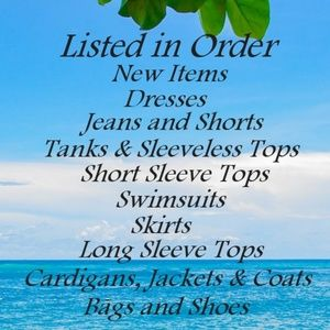 Other - Order of Items Listed